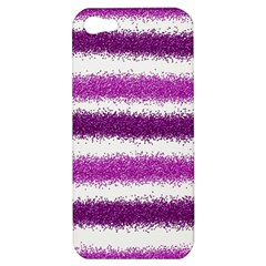 Metallic Pink Glitter Stripes Apple iPhone 5 Hardshell Case