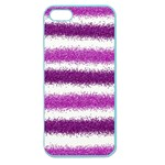 Metallic Pink Glitter Stripes Apple Seamless iPhone 5 Case (Color) Front