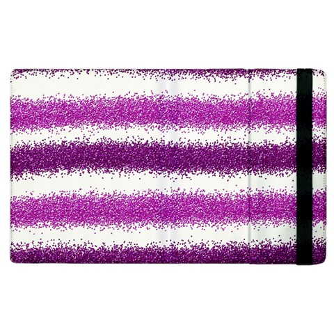 Metallic Pink Glitter Stripes Apple iPad 2 Flip Case