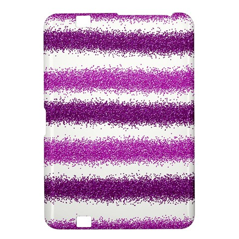 Metallic Pink Glitter Stripes Kindle Fire HD 8.9