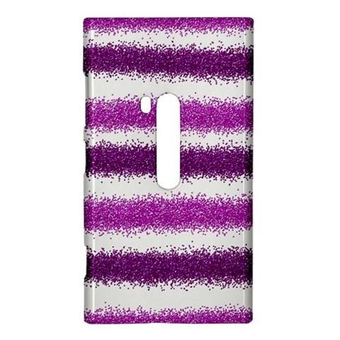Metallic Pink Glitter Stripes Nokia Lumia 920