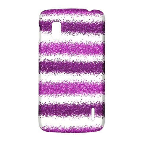 Metallic Pink Glitter Stripes LG Nexus 4