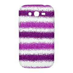 Metallic Pink Glitter Stripes Samsung Galaxy Grand DUOS I9082 Hardshell Case