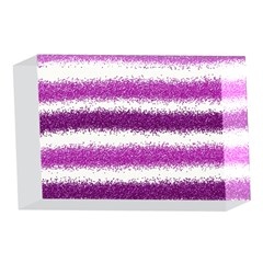 Metallic Pink Glitter Stripes 4 x 6  Acrylic Photo Blocks