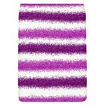 Metallic Pink Glitter Stripes Flap Covers (S)  Front