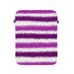 Metallic Pink Glitter Stripes Apple iPad 2/3/4 Protective Soft Cases Front