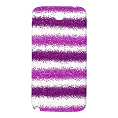 Metallic Pink Glitter Stripes Samsung Note 2 N7100 Hardshell Back Case
