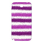 Metallic Pink Glitter Stripes Samsung Note 2 N7100 Hardshell Back Case Front