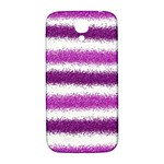 Metallic Pink Glitter Stripes Samsung Galaxy S4 I9500/I9505  Hardshell Back Case Front