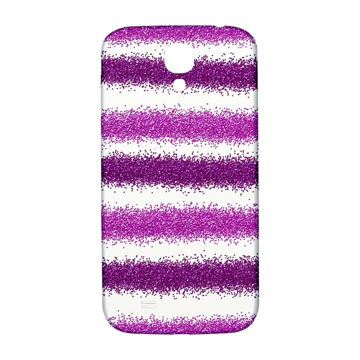 Metallic Pink Glitter Stripes Samsung Galaxy S4 I9500/I9505  Hardshell Back Case