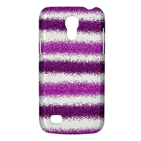 Metallic Pink Glitter Stripes Galaxy S4 Mini