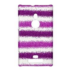 Metallic Pink Glitter Stripes Nokia Lumia 925