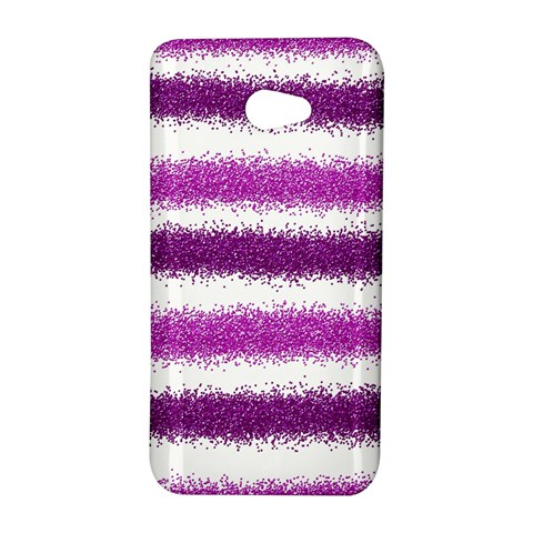 Metallic Pink Glitter Stripes HTC Butterfly S/HTC 9060 Hardshell Case