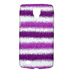 Metallic Pink Glitter Stripes Galaxy S4 Active