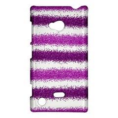Metallic Pink Glitter Stripes Nokia Lumia 720