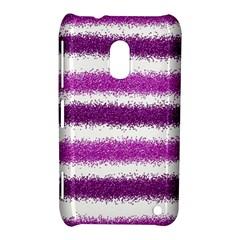 Metallic Pink Glitter Stripes Nokia Lumia 620