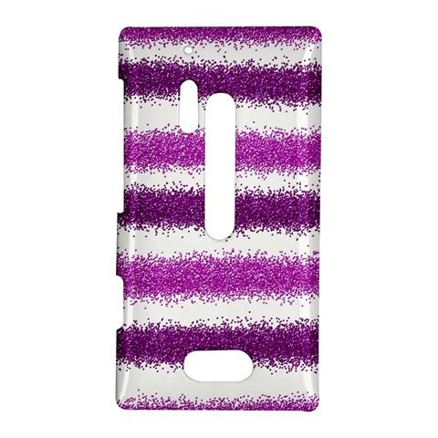 Metallic Pink Glitter Stripes Nokia Lumia 928