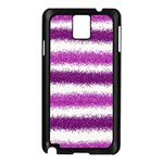 Metallic Pink Glitter Stripes Samsung Galaxy Note 3 N9005 Case (Black) Front