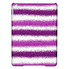 Metallic Pink Glitter Stripes iPad Air Hardshell Cases