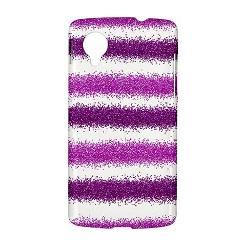 Metallic Pink Glitter Stripes LG Nexus 5