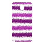 Metallic Pink Glitter Stripes Samsung Galaxy Note 3 N9005 Hardshell Back Case Front