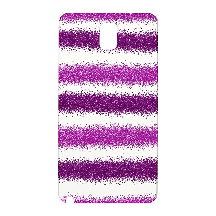 Metallic Pink Glitter Stripes Samsung Galaxy Note 3 N9005 Hardshell Back Case