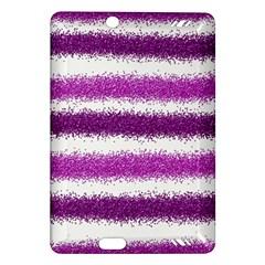 Metallic Pink Glitter Stripes Amazon Kindle Fire HD (2013) Hardshell Case