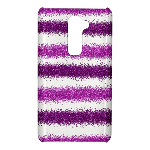 Metallic Pink Glitter Stripes LG G2