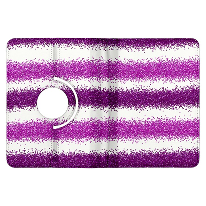 Metallic Pink Glitter Stripes Kindle Fire HDX Flip 360 Case