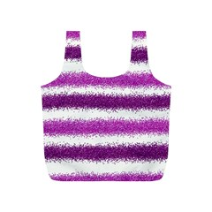 Metallic Pink Glitter Stripes Full Print Recycle Bags (S)
