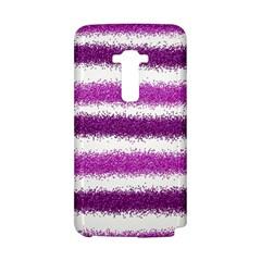 Metallic Pink Glitter Stripes LG G Flex