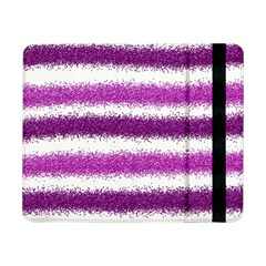 Metallic Pink Glitter Stripes Samsung Galaxy Tab Pro 8.4  Flip Case