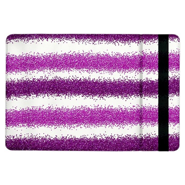 Metallic Pink Glitter Stripes iPad Air Flip