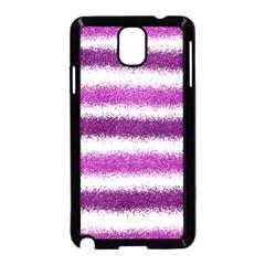 Metallic Pink Glitter Stripes Samsung Galaxy Note 3 Neo Hardshell Case (Black)