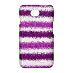 Metallic Pink Glitter Stripes LG Optimus L70