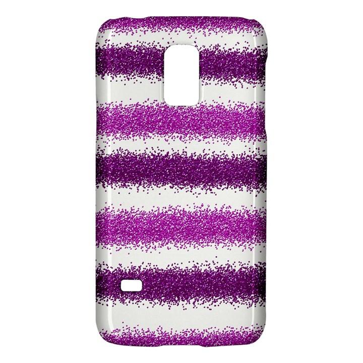 Metallic Pink Glitter Stripes Galaxy S5 Mini