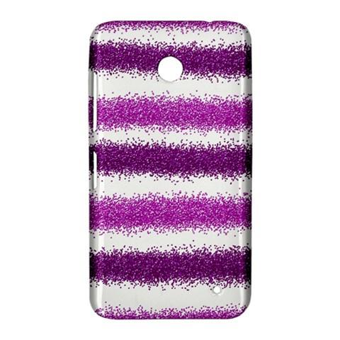 Metallic Pink Glitter Stripes Nokia Lumia 630