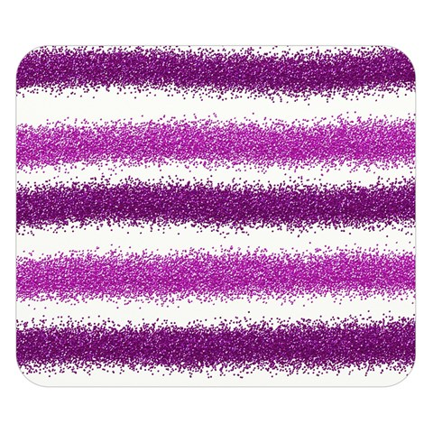 Metallic Pink Glitter Stripes Double Sided Flano Blanket (Small)