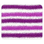 Metallic Pink Glitter Stripes Double Sided Flano Blanket (Small)  50 x40 Blanket Front