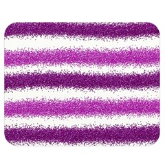 Metallic Pink Glitter Stripes Double Sided Flano Blanket (Medium)
