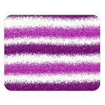 Metallic Pink Glitter Stripes Double Sided Flano Blanket (Large)  80 x60 Blanket Front