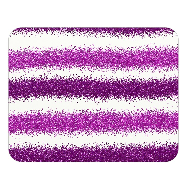 Metallic Pink Glitter Stripes Double Sided Flano Blanket (Large)