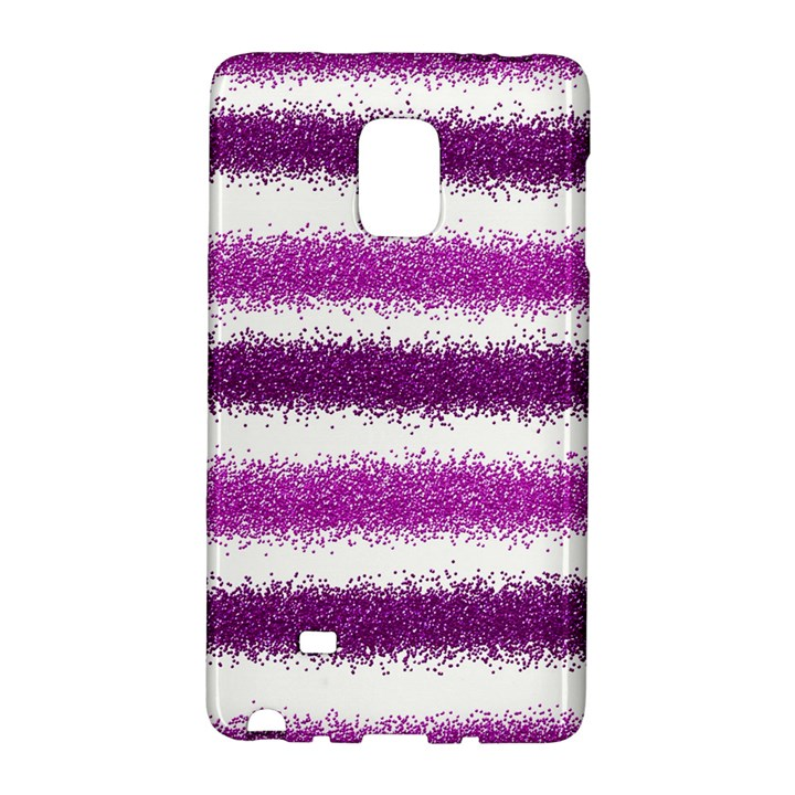Metallic Pink Glitter Stripes Galaxy Note Edge
