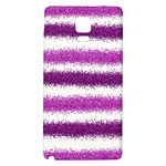Metallic Pink Glitter Stripes Galaxy Note 4 Back Case Front