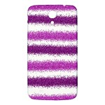 Metallic Pink Glitter Stripes Samsung Galaxy Mega I9200 Hardshell Back Case Front