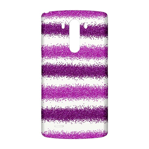 Metallic Pink Glitter Stripes LG G3 Back Case