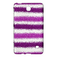 Metallic Pink Glitter Stripes Samsung Galaxy Tab 4 (7 ) Hardshell Case