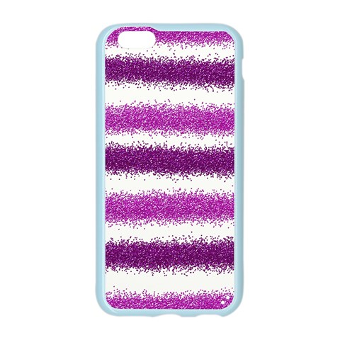 Metallic Pink Glitter Stripes Apple Seamless iPhone 6/6S Case (Color)