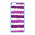 Metallic Pink Glitter Stripes Apple Seamless iPhone 6/6S Case (Color) Front