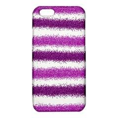 Metallic Pink Glitter Stripes iPhone 6/6S TPU Case